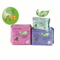 UFT草本衛生綿超值優惠組日用*3+夜用*2+護墊*3