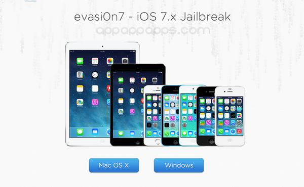 iOS 7破解evasi0n7更新, 已JB用戶也要下載