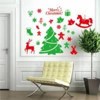 【Smart Design】創意無痕壁貼◆歡樂聖誕樹