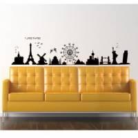 【Smart Design】創意無痕壁貼◆環遊世界