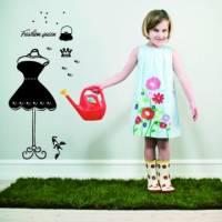 【Smart Design】創意無痕壁貼◆時尚女王 小