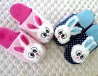e鞋院 【布萊兔】立體絨毛舒適兒童室內拖鞋