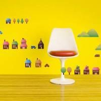 《Smart Life》創意無痕壁貼◆彩色房子
