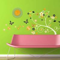 《Smart Life》創意無痕壁貼◆夜光太陽花蝴蝶
