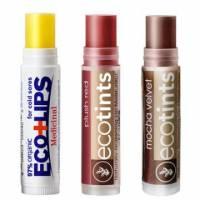 美國ECO LIPS 依蔻麗唇 有機護唇膏3入組-修護+夢幻桃紅+可可摩卡各1