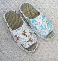 e鞋院 【快樂狗】藺草室內拖鞋 ~NEW~