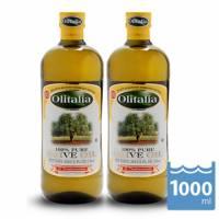 【Olitalia奧利塔】純橄欖油1000mlx2瓶 1組禮盒