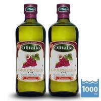 【Olitalia奧利塔】葡萄籽油1000mlx2瓶 1組禮盒