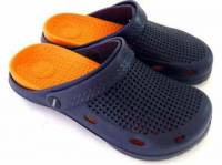 e鞋院 園丁鞋 布希鞋II---男 藍 橘