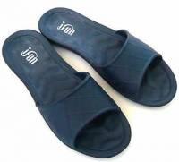 e鞋院 ifun 日式方格紋室內拖鞋 深藍