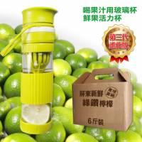 綠鑽檸檬6斤+果鮮活力杯