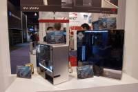 CES 2014 :迎廣展出全玻璃機箱 tou 平民版的兩款鋁骨 玻璃側版機箱