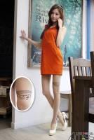 《Amiss》個性圖騰☆刺青褲襪-大腿希臘墜鍊