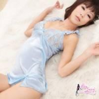 《Fee Sexy》溫情柔順 柔緞蕾絲性感睡衣