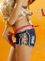 DV辣妹時尚 B0126P 狂銷推薦星鐵圈超短牛仔褲