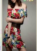 《完美比例》日系甜美花朵洋裝(送腰封)