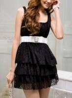 《完美比例》日系純蕾絲洋裝
