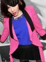 《正品玫瑰園》時尚派對不規則七分袖西裝外套 2色
