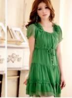 《正品玫瑰園》歐式浪漫花瓣肩飾雪紡洋裝 現+預 3色