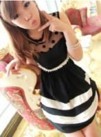 《正品玫瑰園》法式甜美薄紗圓點連衣裙 現+預 2色