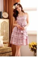 《正品玫瑰園》國色天香絲綢晚宴小禮服