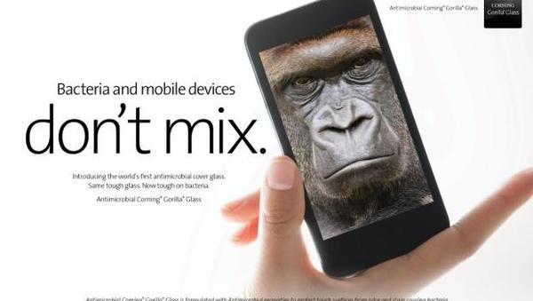[科技新報]刷手機不怕髒,康寧於CES 2014展出抗菌玻璃