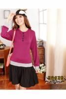 韓國keithwill香奈兒風華幾何拼接洋裝-紫