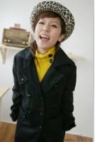 韓國keithwill歐美專櫃‧韓品雙排雕釦長大衣-黑