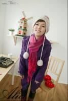 韓國keithwill歐美專櫃‧韓品雙排雕釦長大衣-紫