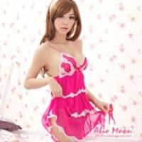 《Alio Moon》酸甜莓果 柔紗蛋糕裙睡衣 桃