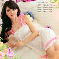 《Ayoka》輕舞飄香!薄紗二件式睡襯衣