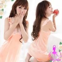 【Ayoka】夢幻公主-甜美睡襯衣 粉橘 *