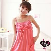 《Sani Sani》公主情懷 柔緞滑面睡衣 粉桃