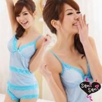 《Sani Sani》活力寶貝‧水藍條紋棉柔睡衣