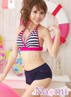 《Naomi》夏日情蹤!俏麗條紋三件式泳裝組