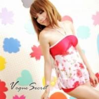 《VOGUE SECRET》 熱情紅玫瑰二件式泳衣熱褲款