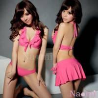 《Naomi》糖心魅力!亮眼女孩三件式泳裝組
