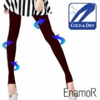 《EnamoR》機能款˙240d涼感抗UV提臀九分褲襪 Bally-紅
