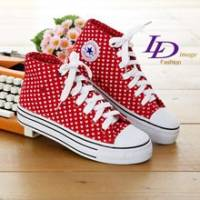 《LD image》愛要高飛˙俏皮甜心厚底可愛帆布鞋.紅