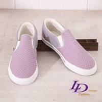 《LD image》活躍魅力.迷幻圓點慵懶輕便休閒鞋.灰