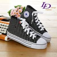 《LD image》愛要高飛˙俏皮甜心厚底可愛帆布鞋.黑