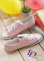 【LD image】粉紅甜心.人氣素面百搭休閒帆布鞋.粉紅