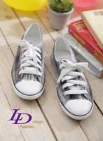 【LD image】時尚雅痞.俏皮經典漸層條紋休閒鞋.黑白紋