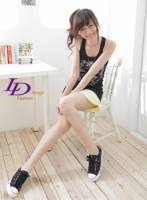 【LD image】玩出STLYE.夏日童趣搖滾風帆布鞋.黑