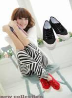 【幸運之花】韓風基本款帆布鞋-極簡黑