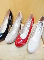 <完美比例>蝴蝶結勾引造型鞋-米