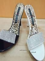 閃閃動人鑽石設計氣質高跟鞋~白