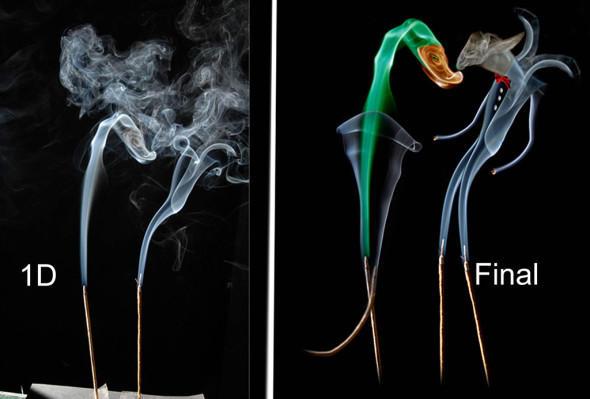 為煙霧加上色彩,成為漂亮的藝術創作