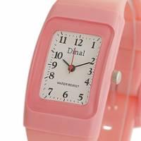 Dinal 粉彩幻想 女孩專屬甜心腕錶 粉紅