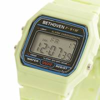 Bethoven 那一年,女孩 輕薄時尚電子腕錶 綠